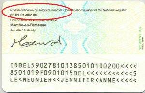 Die National-Register-Nummer