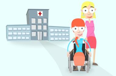 Lori und Mia verlassen das Kranken-Haus.